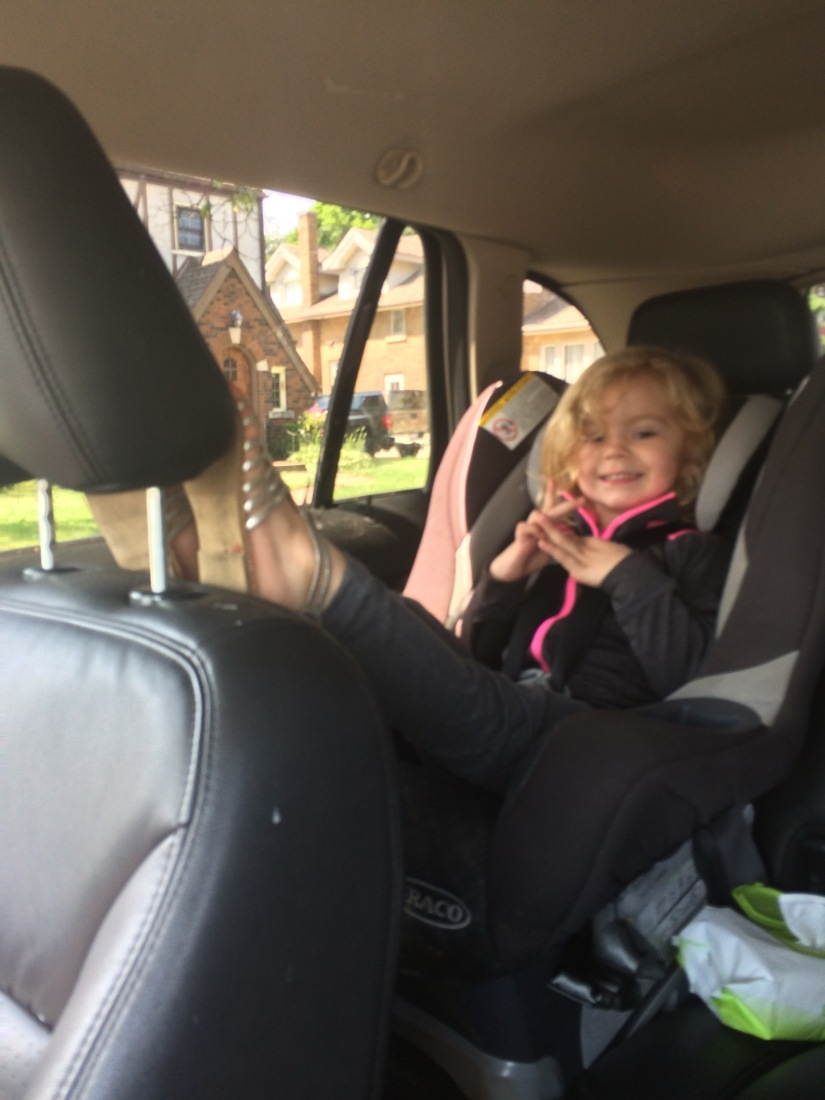 Goodbye Rear-facing Toddler!  Helloooo Backseat Driver!